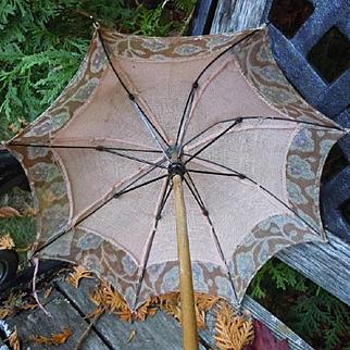 Rare Antique Doll Umbrella Parasol