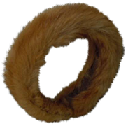 Charming Real Fur Headband  for antique french Jumeau Steiner Eden doll