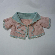 All Original Old wool Sweater for baby compo german bisque doll