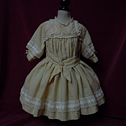 Lovely  old 1920's Dress for huge german french bisque doll