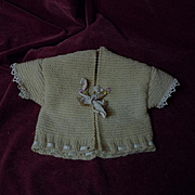 Lovely set wool Sweater and Booties for baby compo german french bisque doll