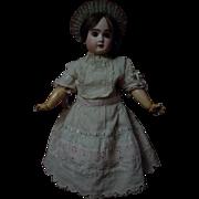 Lovely beige batiste Dress w/ Petticoat and Headband for french bebe Jumeau Steiner huge doll