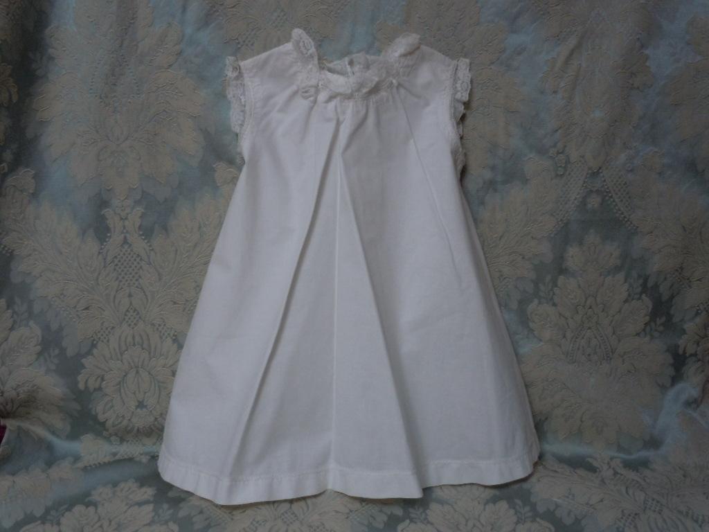 """Gorgeous All Original Antique cotton Slip Underwear for 30"""" - 34"""" huge bisque doll"""
