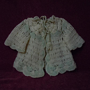 Exquisite All Original Antique early century wool Sweater for german bisque french Bebe doll