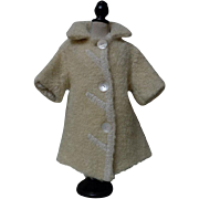 All Original Antique Lamb's Winter Coat for german bisque french bebe huge doll
