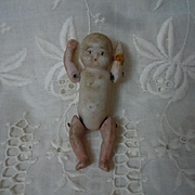 Lovely Antique All Bisque tiny miniature baby doll movable arms and legs