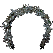 Beautiful Orange blossom Wreath Headband for antique german bisque french bebe doll