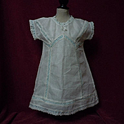 Original Antique Chemise  Dress w/ Slip for huge doll
