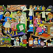 Great Lot 8 Sheets Uncut Vintage Die-cuts Printed in England