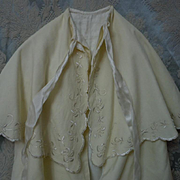 All Original Antique Christening Cape  Exquisite Hand embroidery