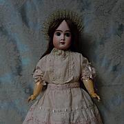 Lovely batiste Dress w/ Petticoat Headband for french bebe huge doll