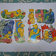 Great Lot 8 Sheets Uncut Vintage Die-cuts England and Sweden