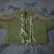 Lovely set wool Sweater and Booties for german french bisque doll