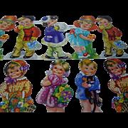 Vintage mid century Uncut Die-cuts Sheet  Childrens MLP Made in England