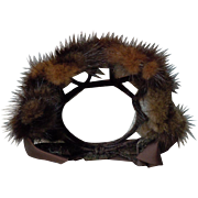Genuine Fur Headdress for huge antique bisque dolls