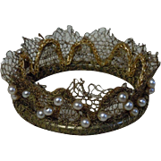 Exquisite Couture Crown for cabinet sized bisque doll