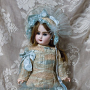 Fabulous French Bebe Costume Dress Hat for antique Jumeau Steiner doll