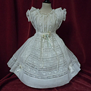 Superb Antique Original victorian whitework Dress
