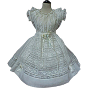 Superb Antique Original victorian whitework Dress