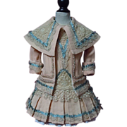 "Gorgeous  Couturier Costume Dress Jacket Beret for 23"" doll"