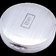 Vintage Watrous Sterling Silver Art Deco Chatelaine Compact Pill Trinket Box