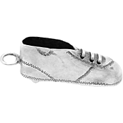 Antique Victorian 800 Silver Track Baseball Football Sport Shoe Charm