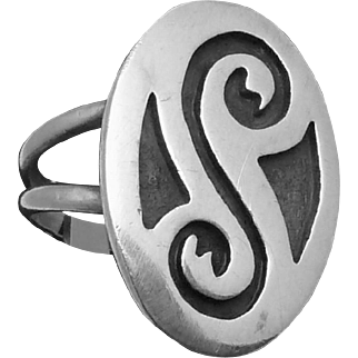 Vintage Southwestern Zuni Tribal Native Sterling Silver Ring