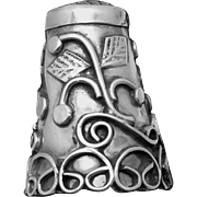 Vintage Taxco Mexican Sterling Silver Large Hand Made Thimble