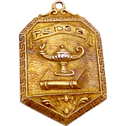 1931 Dieges & Clust Gold Filled PS102Q Queens NY Scholar Award Medal