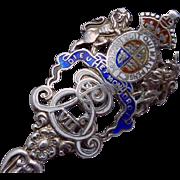 Antique Ellis Sterling Silver Edward VII Moose Jaw Canada Souvenir Spoon