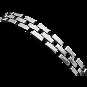 Vintage C Avila de la Borda Mexico Mexican Sterling Silver Triple Row Bracelet