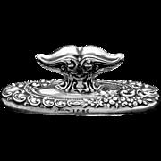 Antique Sterling Silver Vanity Holder Handle Signed Ornate