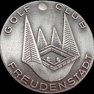 Vintage 835 Silver Germany BH Mayer Freudenstadt Golf Club Buttons Set 5