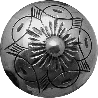Vintage 830 Silver Scandinavian Button Set of 5 Large Buttons