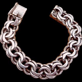 Vintage Christian Veilskov Denmark Danish 830 Silver Biker Chain Bracelet