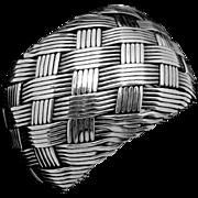 Vintage Taxco Mexican Sterling Silver Large Basketweave Cuff Bracelet