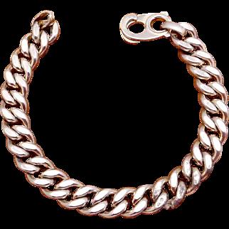 Vintage Napier Sterling Silver Biker Chain Bracelet