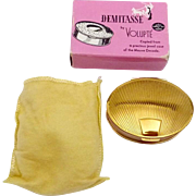 Vintage Volupte Demitasse Oval Mauve Decade Compact Original Box