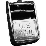 Vintage Taxco Mexican Sterling Silver Moveable Post Mail Box Charm Pendant