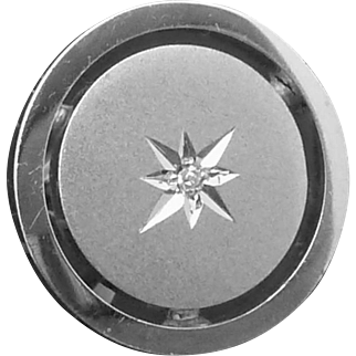 Vintage LaMode Sterling Silver Diamond Mid Century Cufflinks Tie Tack