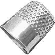 Vintage Sterling Silver Tiny Thimble Charm Pendant