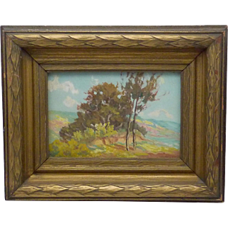 Vintage Peter Lanz Hohnstedt Texas Regionalist Small Oil Painting Drifting