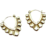James Avery 14K Gold Earrings Pierced Modernist Style Vintage