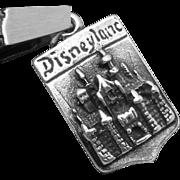 Vintage Sterling Silver Walt Disney Productions Disneyland Charm Pendant