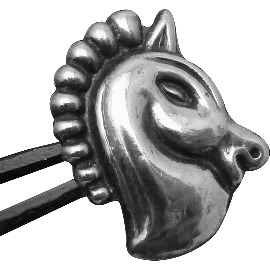 Vintage Taxco Mexico Mexican Sterling Silver Horse Button Aguilar Book Pc