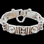 Vintage Los Castillo Taxco Mexico Mexican Sterling Silver Bracelet