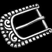 Rare Vintage C Avila de la Borda Taxco Mexican Sterling Silver Belt Buckle