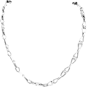 """Vintage Taxco Mexico Mexican Sterling Silver Chain Long 30"""" Necklace"""