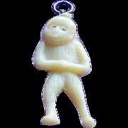 Vintage Celluloid Monkey Charm