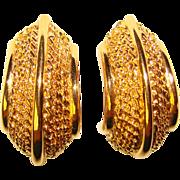 Gorgeous ST. JOHN Signed Clip Earrings